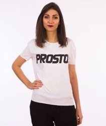 Prosto-Up T-Shirt Damski Biały