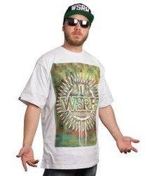 WSRH-Słońce Pixel T-Shirt Biały