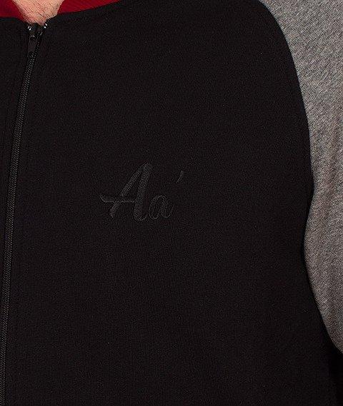 Alkopoligamia-Aa' Basic Span Bluza Rozpinana Czarna/Szara/Bordowa