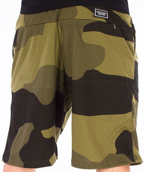 Backyard Cartel-Big Woodland Shorts Zielone Camo