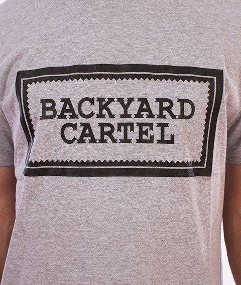 Backyard Cartel-Label Logo T-Shirt Szary