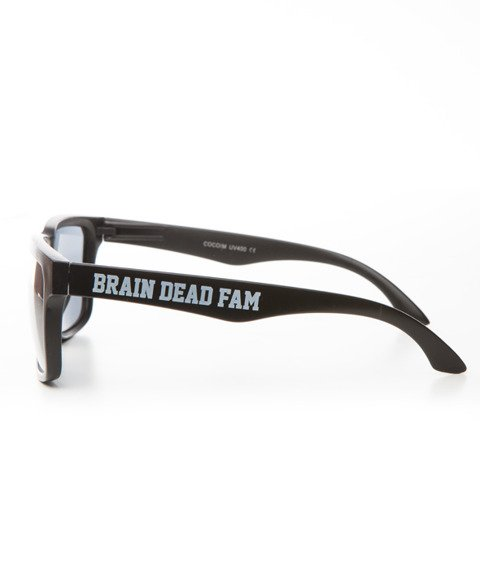 Brain Dead Familia-Logo Okulary Przeciwsłoneczne Czarne