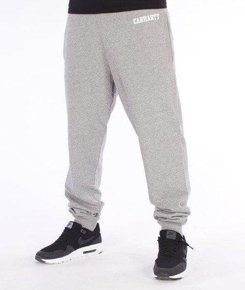 Carhartt-College Sweat Pants Spodnie Dresowe Grey Heather/White