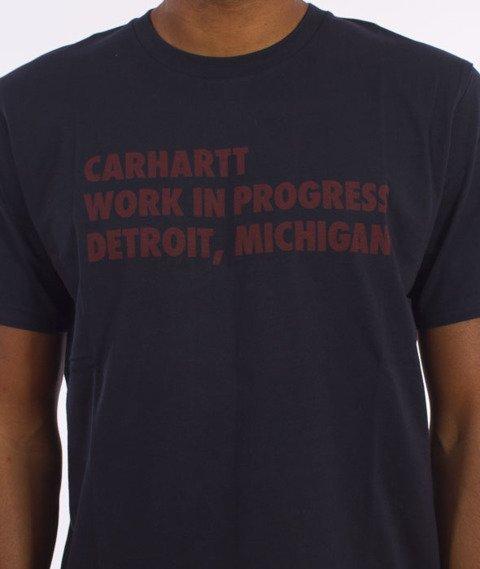 Carhartt WIP-Bold Type T-Shirt Navy/Chianti