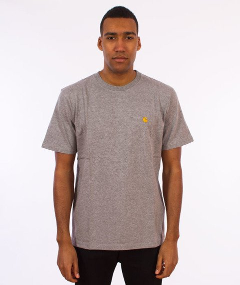Carhartt WIP-Chase T-Shirt Grey Heather/Gold