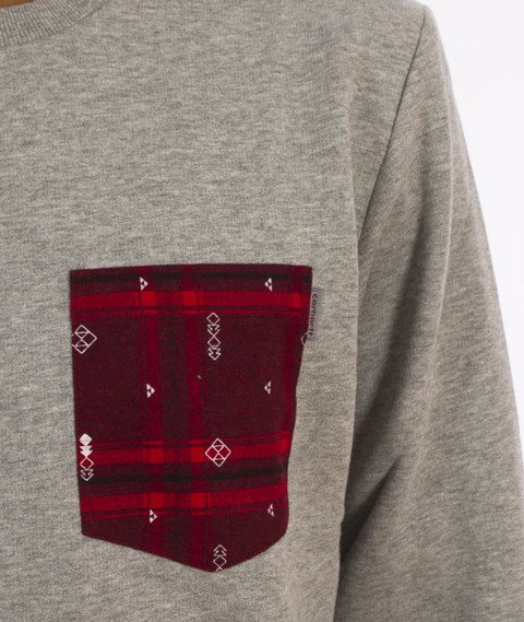 Carhartt WIP-Eaton Pocket Bluza Grey Heather/Carlo Check