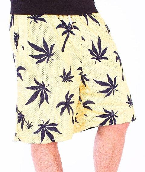 Cayler&Sons-Beach Budz Reversible Mesh Shorts Navy/White-Pale Yellow/Navy