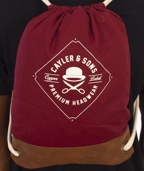 Cayler & Sons-Fastball Gym Bag Maroon/Brown/White