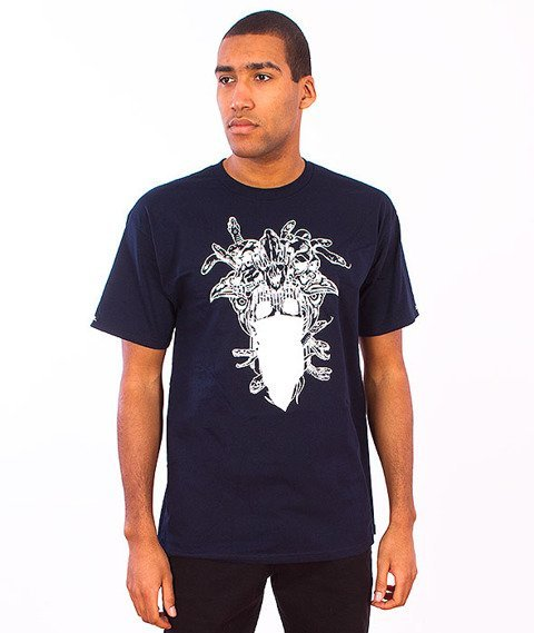 Crooks & Castles-Gorgon Medusa T-Shirt  Navy