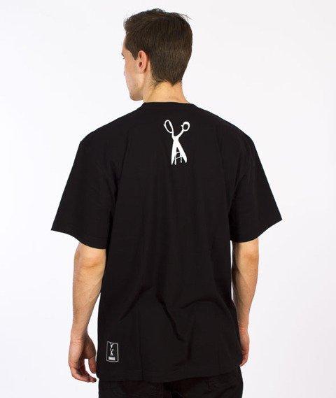 Demonologia-Nożyczki T-shirt Czarny