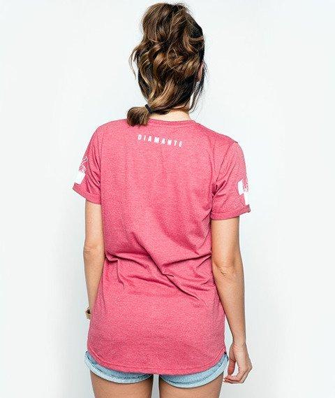 Diamante-Born Smoker T-shirt Damski Czerwony