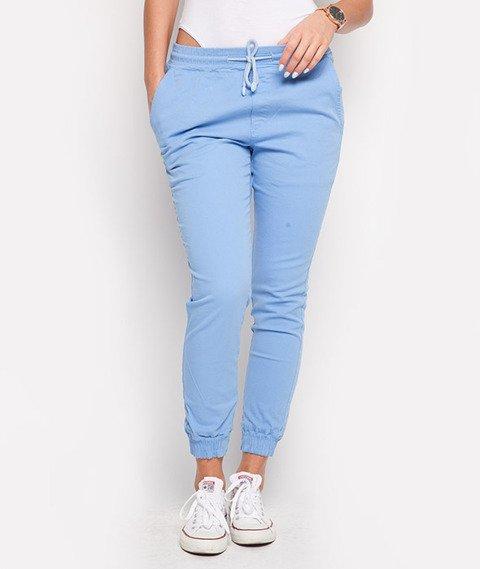 Diamante-Classic Jogger Pants Błękitne
