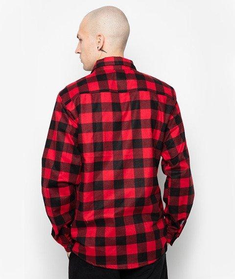 Diamante-Krata Koszula Czerwona