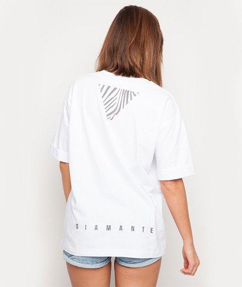 Diamante-Mrs Not Enough Clothes T-shirt Damski Biały