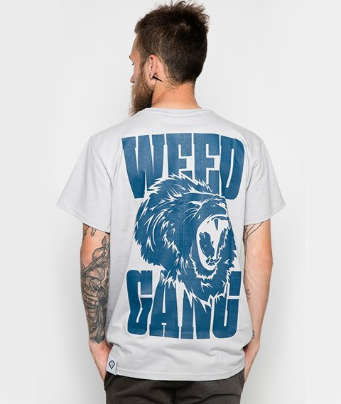 Diamante-Weed Gang T-Shirt Szary
