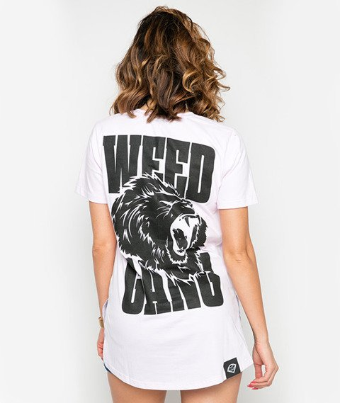 Diamante-Weed Gang T-shirt Damski Różowy