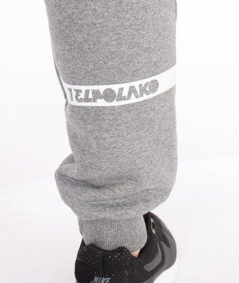 El Polako-Classic 08 Fit Spodnie Dresowe Grafitowe
