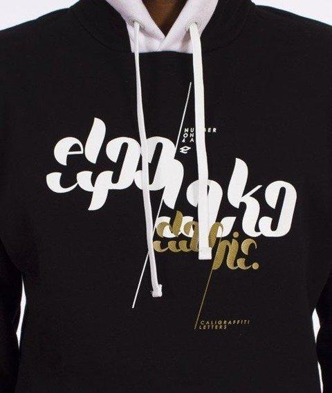 El Polako-Font Hoody Bluza Kaptur Czarna