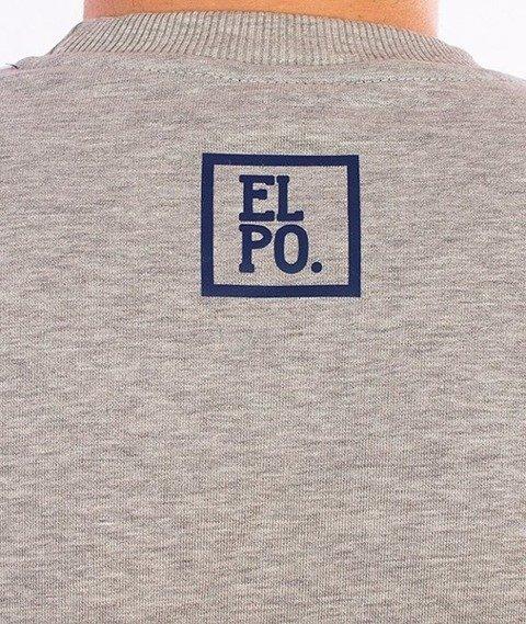 El Polako-Half Colour Bluza Szara/Grafitowa