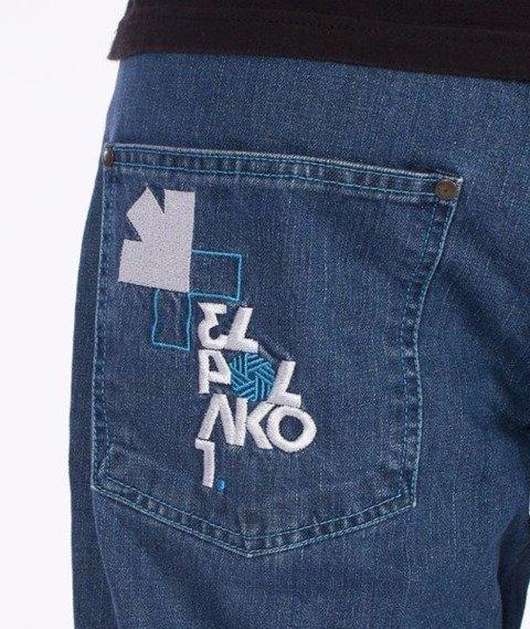 El Polako-Number Regular Jeans Light Blue