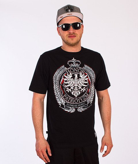 Extreme Hobby-Honor i Patriotyzm T-shirt Czarny