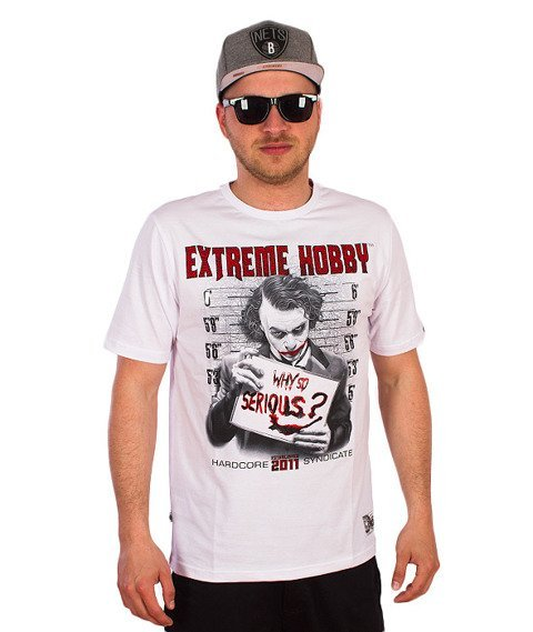Extreme Hobby-Why So Serious? T-shirt Biały