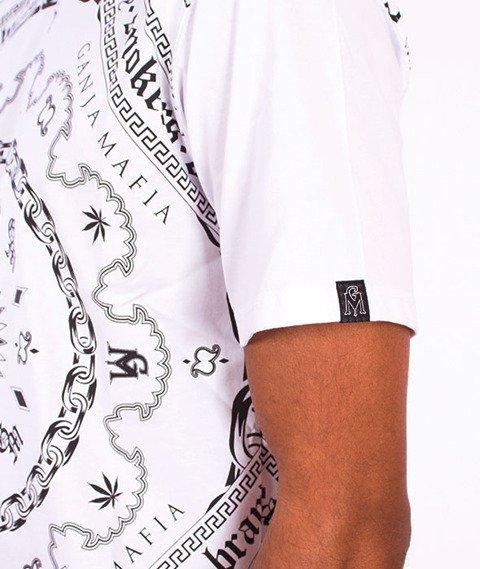 Ganja Mafia-Bandana Multi T-shirt Biały