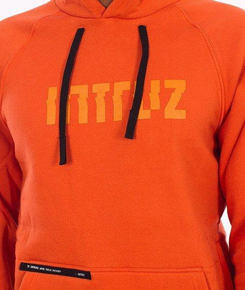 Intruz-Logo Bluza Z Kapturem Pomarańczowa
