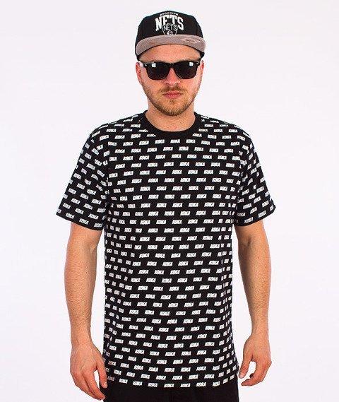 Koka-Overprint T-Shirt Czarny