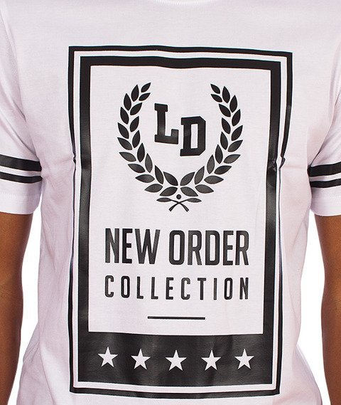 Lucky Dice-New Order T-shirt Biały