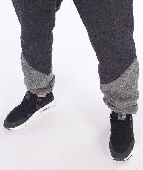 Lucky Dice-Triangle Cut Sweatpants Spodnie Dresowe Grafitowe