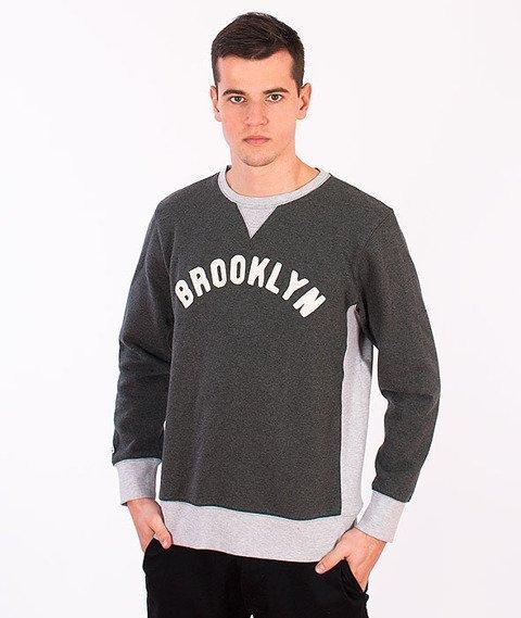 Majestic-Brooklyn Dodgers Crewneck Dark Grey
