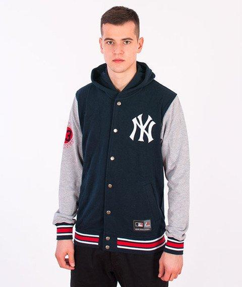Majestic-New York Yankees Auld Hooded Fleece Navy/Grey