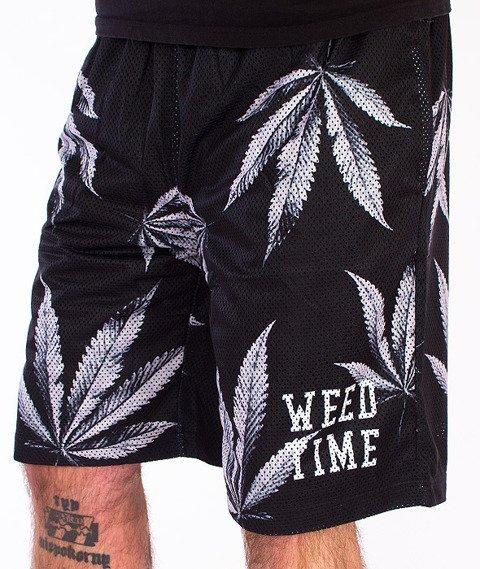 Mass-Blvck Weed Mesh Spodnie Krótkie Multikolor