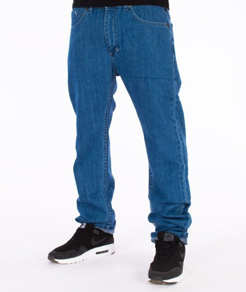 Mass-Mind Tapered Fit Jeans Spodnie Light Blue