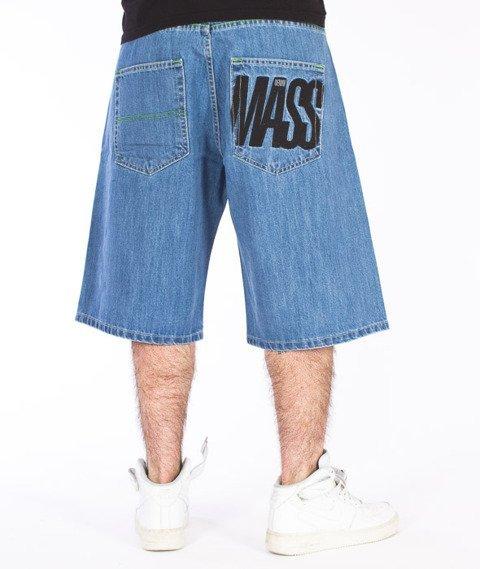 Mass-Outsized Shorts Baggy Light Blue