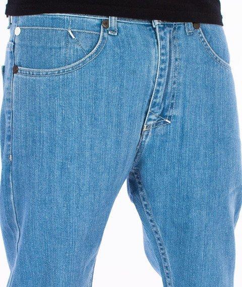 Mass-Signature Tapered Fit Jeans Spodnie Light Blue