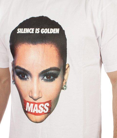 Mass-Silence T-shirt Biały