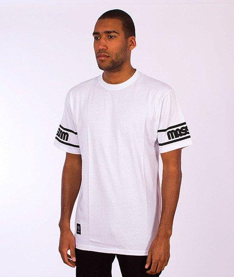 Mass-Sleeveless T-Shirt Biały