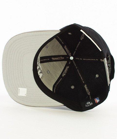 Mitchell & Ness-2 Tone Team Arch Brooklyn Nets Snapback NA80Z Czarny/Szary