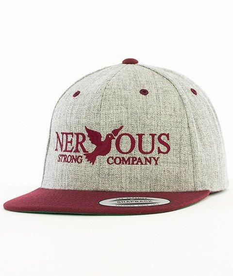 Nervous-Classic Snapback Szary/Bordowy