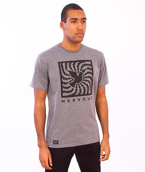 Nervous-Swirl T-Shirt Grey