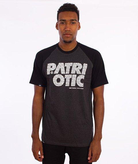 Patriotic-CLS Fonts T-shirt Grafit/Czarny