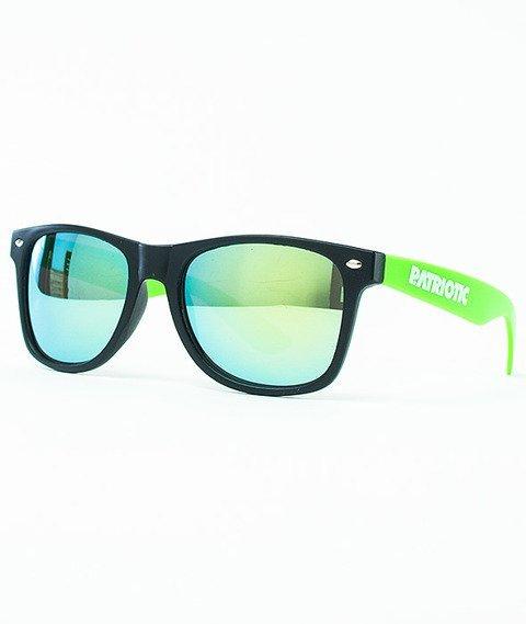 Patriotic-Futura Mat Okulary Czarne/Zielone/Camo-Żółte