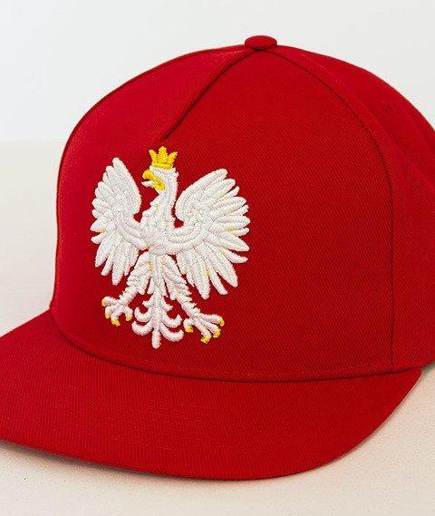Patriotic-Godło Snapback Czerwony