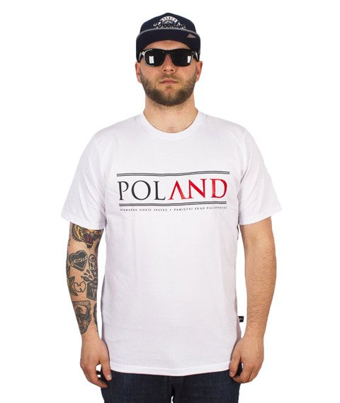 Patriotic-Poland Fonts T-Shirt Biały
