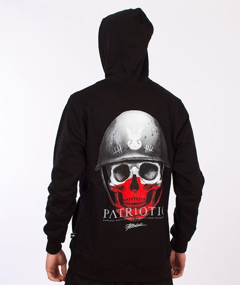 Patriotic-Skull Bluza Kaptur Rozpinana Czarna