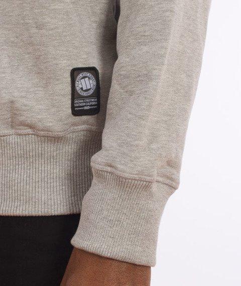 Pit Bull West Coast-Blue Brand Sweatshirt Crewneck Grey Melange