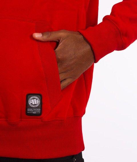 Pit Bull West Coast-Skull Logo Hoodie Bluza Kaptur Czerwona