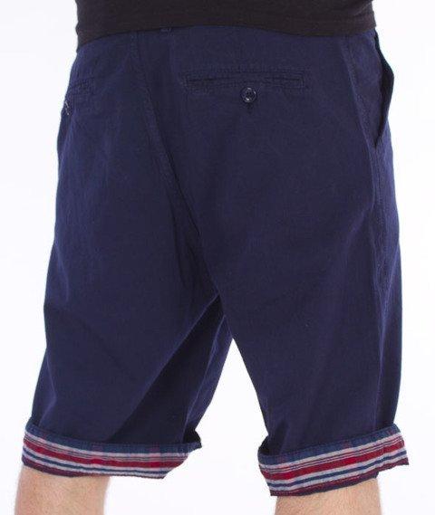 Pit Bull West Coast-Vintage Spodnie Krótkie Chino Granatowe